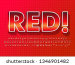 red font with hot steel effect  ... | Shutterstock .eps vector #1346901482