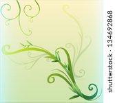 Illustration Of A Green Vine...