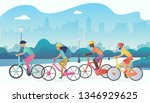 cyclists sport people riding... | Shutterstock . vector #1346929625