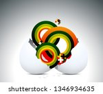 hatching egg and giving nice... | Shutterstock .eps vector #1346934635