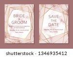 wedding invitation card design... | Shutterstock .eps vector #1346935412