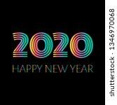 2020 happy new year.... | Shutterstock . vector #1346970068