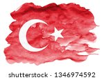 Turkey Flag  Is Depicted In...