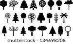 set of trees | Shutterstock .eps vector #134698208