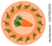 vector pattern with carrots on... | Shutterstock .eps vector #1347001202