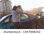 a car driver is looking shocked ... | Shutterstock . vector #1347008252