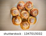 buns choux pastry. cakes... | Shutterstock . vector #1347015032
