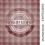 non resident red emblem with... | Shutterstock .eps vector #1347015692