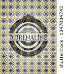 adrenaline arabesque badge....   Shutterstock .eps vector #1347034742