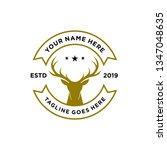 deer hunter logo  badge  emblem ...   Shutterstock .eps vector #1347048635