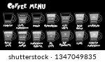 coffee menu. coffee cups.... | Shutterstock .eps vector #1347049835