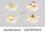 golden hair oil ads  beautiful... | Shutterstock .eps vector #1347054452