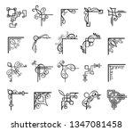 vintage decorative corners for... | Shutterstock .eps vector #1347081458