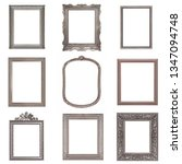 set of silver frames for... | Shutterstock . vector #1347094748