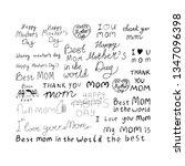 set mother day inscriptions ... | Shutterstock .eps vector #1347096398
