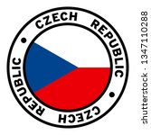 round czech republic flag... | Shutterstock .eps vector #1347110288