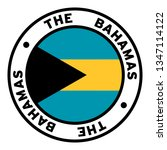 round the bahamas flag clipart | Shutterstock .eps vector #1347114122