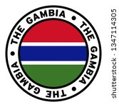 round the gambia flag clipart | Shutterstock .eps vector #1347114305