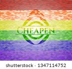 cheapen emblem on mosaic... | Shutterstock .eps vector #1347114752