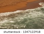 White Foam On Sea Water Rushing ...