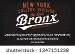 bronx. new york college... | Shutterstock .eps vector #1347151238
