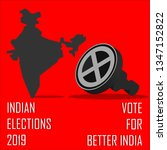 indian elections 2019 vote for... | Shutterstock .eps vector #1347152822