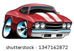 classic american muscle car... | Shutterstock .eps vector #1347162872