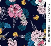 dark blooming flower night and... | Shutterstock .eps vector #1347170042