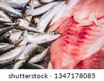 fresh fish at a fishmonger | Shutterstock . vector #1347178085