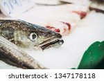 fresh fish at a fishmonger | Shutterstock . vector #1347178118