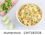 chinese egg fried rice in a... | Shutterstock . vector #1347182528