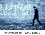 Blurred Black Man Walking...