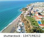 aerial photography of nerja... | Shutterstock . vector #1347198212