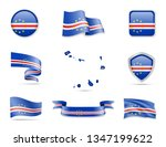 cape verde flags collection.... | Shutterstock .eps vector #1347199622