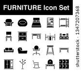 furniture icon set with glyph... | Shutterstock .eps vector #1347207368