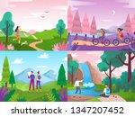 tourism on nature.... | Shutterstock .eps vector #1347207452