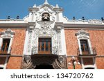government palace  tlaxcala ... | Shutterstock . vector #134720762