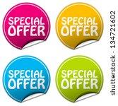 special offer sticker set | Shutterstock . vector #134721602