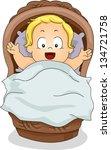 Illustration Of A Toddler Boy...