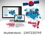 galaxy space ship rocket ... | Shutterstock .eps vector #1347220745