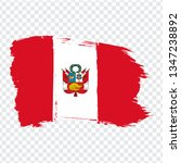 flag of  peru from brush... | Shutterstock .eps vector #1347238892