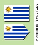 uruguay national flag  | Shutterstock .eps vector #1347241298