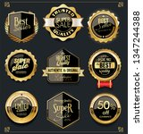 golden sale labels retro... | Shutterstock .eps vector #1347244388