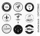 wine labels set | Shutterstock .eps vector #134725862