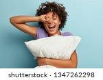 satisfied dark skinned glad... | Shutterstock . vector #1347262298
