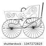 folding baby carriage used to... | Shutterstock .eps vector #1347272825
