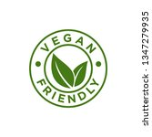 vegan stamp vector template | Shutterstock .eps vector #1347279935