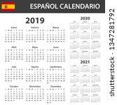 spanish calendar for 2019  2020 ...   Shutterstock . vector #1347281792