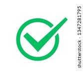 check mark symbol  check box... | Shutterstock . vector #1347281795