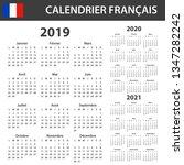 french calendar for 2019  2020...   Shutterstock . vector #1347282242